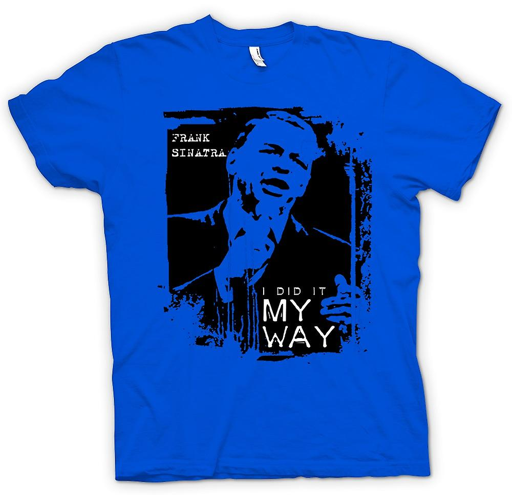 Heren T-shirt - Frank Sinatra My Way - Swing
