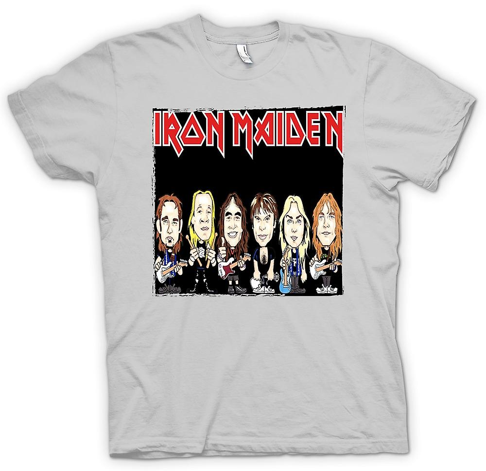 Mens T-shirt - Iron Maiden - Cartoon Band