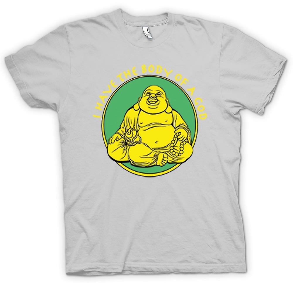 Mens t-shirt - ho il corpo di un Dio - Buddah d'oro