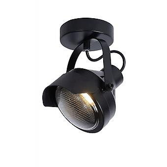 Lucide Cicleta Industrial Rectangle Steel Black Ceiling Spot Light