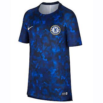 2018-2019 Челси Nike предматчевой подготовки рубашка (гипер кобальт) - дети