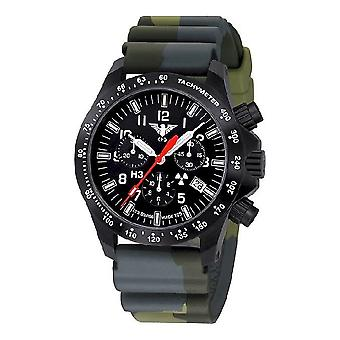 KHS watches mens watch black platoon chronograph KHS. BPCLDR. DC3