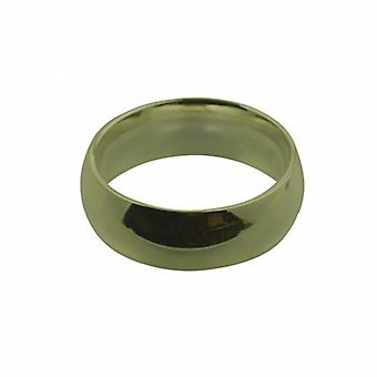 9ct Gold 8mm plain Court shaped Wedding Ring Size Q