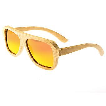 Earth Wood Siesta Polarized Sunglasses - Khaki/Red