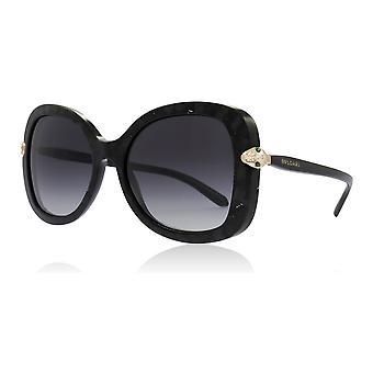 Bvlgari BV8202B ز 54128 مامبا سوداء BV8202B نظارات الفراشة عدسة الفئة 3 حجم 54 مم