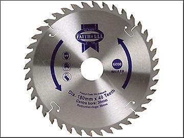 Faithfull Circular Saw Blade 180 x 20/30mm x 40T Fine Cross Cut