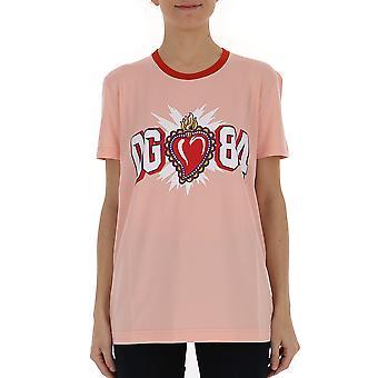 Dolce E Gabbana Pink Cotton T-shirt