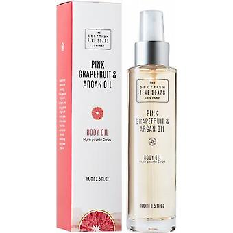 Scottish Fine Soaps Pink Grapefruit & Argan Oil Body Oil