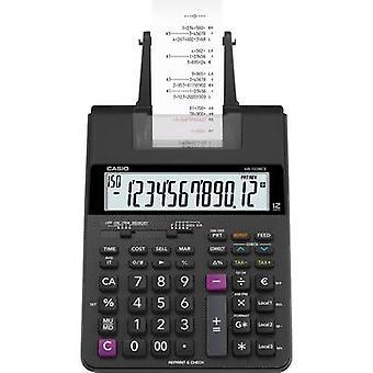 Rekenmachine met ingebouwde printer Casio HR-150 RCE zwart Display (cijfers): 12 batterij-aangedreven, lichtnet-aangedreven (optioneel) (W x H x D) 165 x 65 x 295 mm