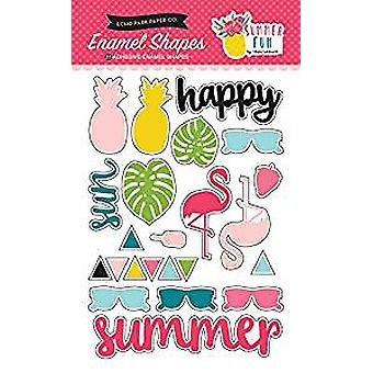 Echo Park Paper Company Summer Fun Enamel Shapes (SF125061)
