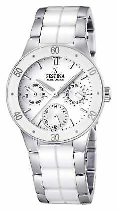 Festina Womens' White Ceramic & Stainless Steel Multi-Dial F16530/1 Watch