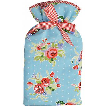English Rose 2L Hot Water Bottle & Padded Cotton Cover
