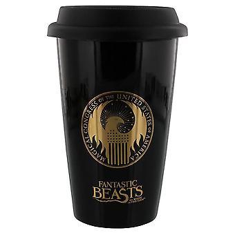 Fantastic Beasts and Where to Find Them MACUSA Logo Ceramic Travel Mug
