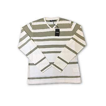Strellson T-shirt in light khaki and white stripe
