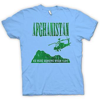 Mens T-shirt - Afghanistan  - We Were Winning When I Left