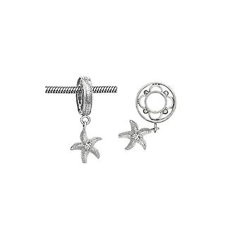 Storywheels Silver Starfish Dangle Charm S021D
