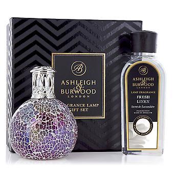 Ashleigh & Burwood Fragrance Oil Lamp Home Gift Set Premium Deluxe Diffuser Pearlesence & Fresh Linen