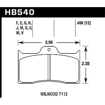 Hawk prestaties HB540F. 490 HPS