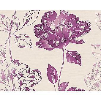 A.S. Creation Pure floral Leaf Flower motiv teksturert bakgrunn 958815