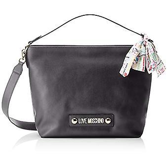 Love Moschino Bag Soft Grain Pu Hand Women (Black) 12x31x43 cm (W x H x L)