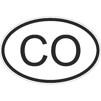 Autocollant Sticker Drapeau Oval Code Pays Voiture Moto Colombie Colombien Co