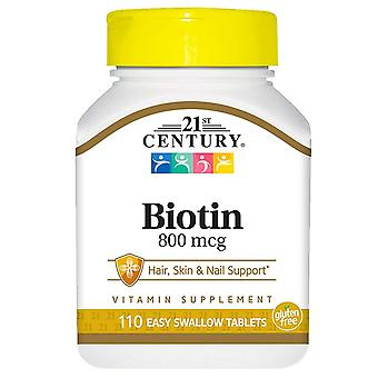 21st century biotin, high potency, 800 mcg, tablets, 110 ea
