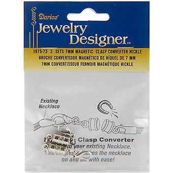 Magnetic Clasps 7mm 2/Pkg-Nickel 1975-73