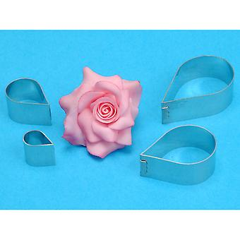 Petal Cutter Set 4 Pieces Rose Flower Rp190
