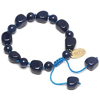 Lola Rose Poppie Bracelet French Navy Quartzite Stone