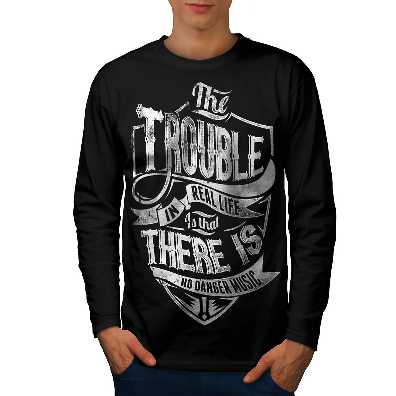 Real Life Danger Tune Music Beat Men Black Long Sleeve T-shirt | Wellcoda