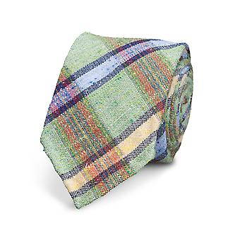 View tie silk silk tie Green striped special offer