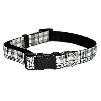 Wag N Walk Check Nylon Collar Green 1