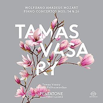 Mozart / Vasary, Tamas / Filarmónica de Berlín - conciertos para Piano núms. 14 y 26 [SACD] USA importación