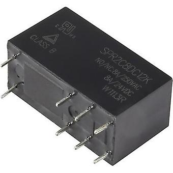 PCB relays 12 Vdc 8 A 2 change-overs Hasco Relays and Electronics SPR2C8DC12K 1 pc(s)