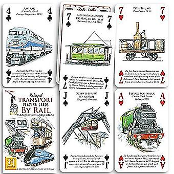 History of Transport - Rail set of 52 playing cards (+ jokers)    (hpc)
