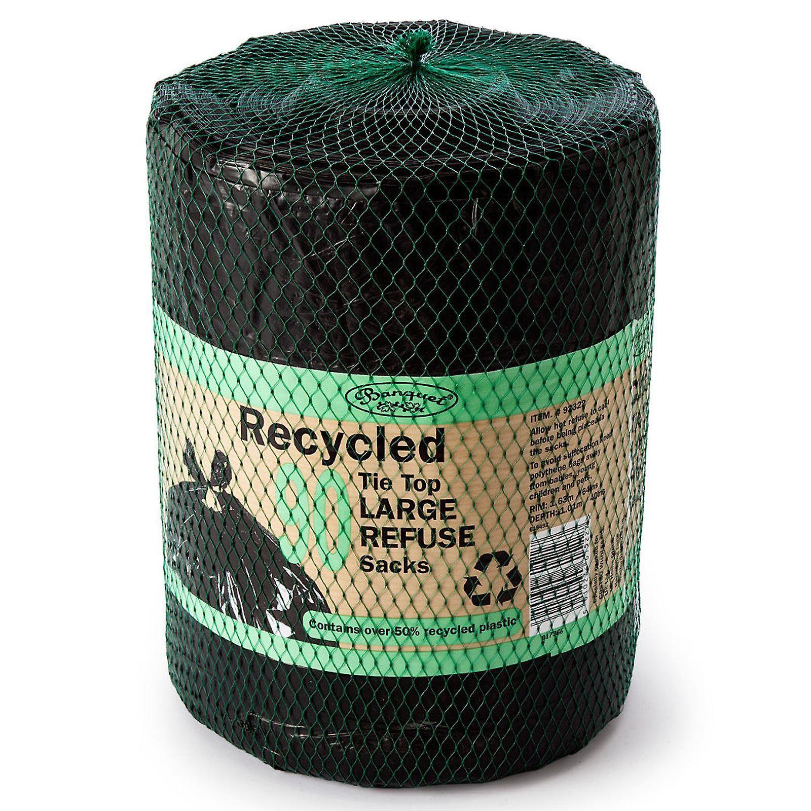 Banquete de reciclado 90 sacos de basura grande superior de Tie