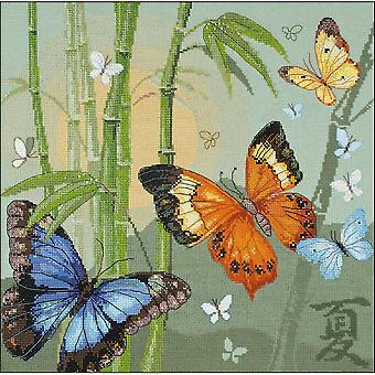Butterflies Counted Cross Stitch Kit-13.75