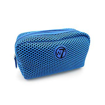 W7 Blue Mesh Small Cosmetic Toiletry Make Up Bag