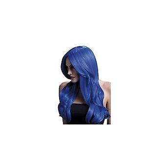 Smiffy's Fever Khloe Wig, 26 Inch / 66cm - Neon Blue