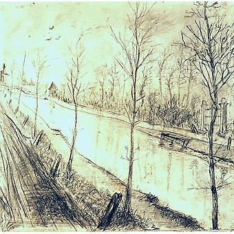 Vincent Van Gogh - Canal Poster Print Giclee