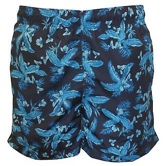 Gant Classic Jungle Floral Print Swim Shorts, Marine Blue