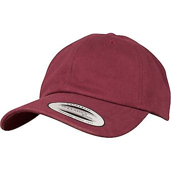 Flexfit Peached Cotton Twill Dad Cap - maroon