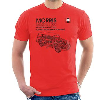 Haynes taller Manual 0024 Morris Minor 1000 negro camiseta de los hombres
