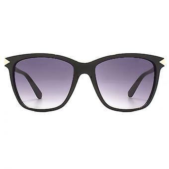 Guess Triangle Hinge Detail Sunglasses In Black