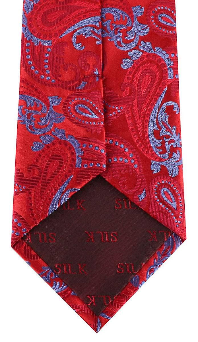 David Van Hagen Paisley Tie - Red/Blue