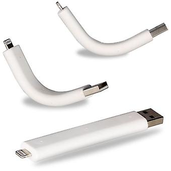 Superstudio kabel støtte 8-pin lyn Usb til Iphone 5 hvid