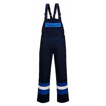 sUw - Bizflame Plus Flame Resistant Hi-Vis Safety Workwear Bib and Brace
