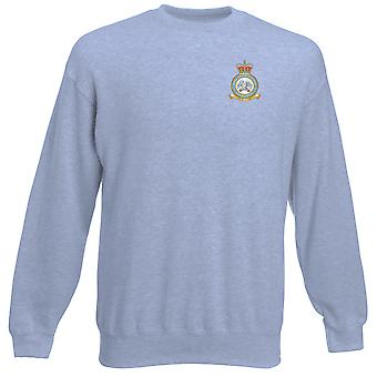 Lossiemouth RAF Station broderad Logo - officiell Royal Air Force Heavyweight tröja