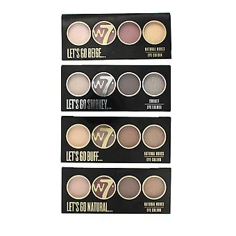 W7 Let's Go Quad Eye Colour Eye Shadow Palette