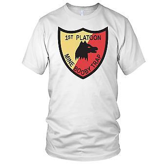 USMC Marines 1st Platoon Mine Booby Trap - Clean Effect Ladies T Shirt